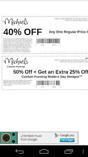 Coupons for Michaels