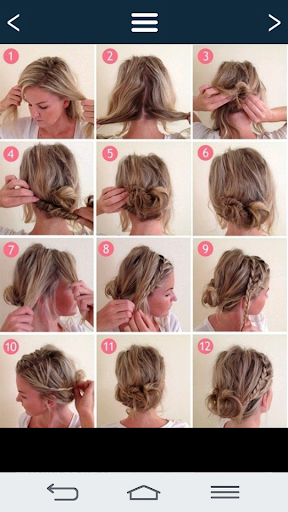 Simple hairstyles.