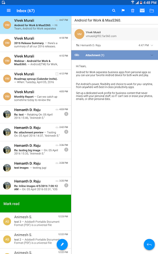 Download MaaS360 Mail for android 4 0