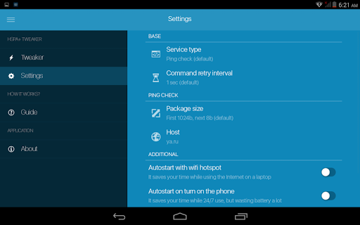 Download HSPA+ Tweaker (3G booster) for android 2 3 6