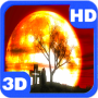 icon Halloween Moon Mystery Red Sky
