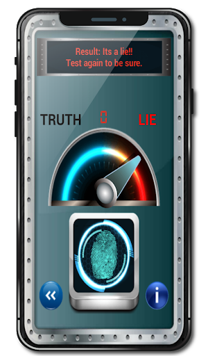 Fingerprint Lie Detector Test Simulator