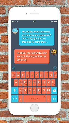 TouchPal Lucid Brick Red Theme