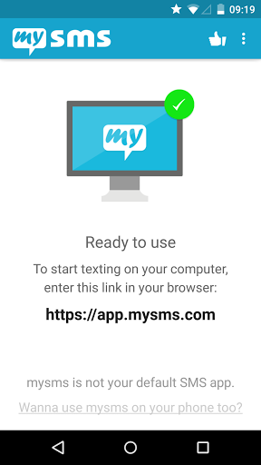 Download mysms SMS Text Messaging Sync for android 5 1