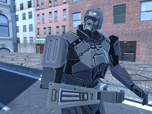 Golden Cyborg Robot