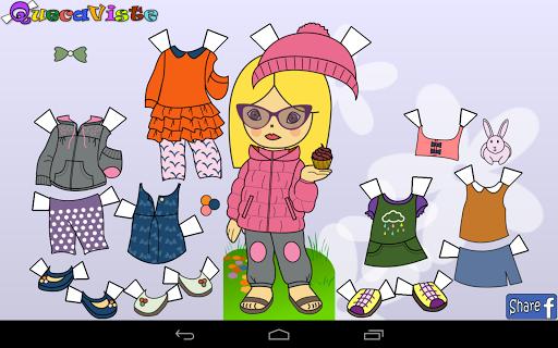 Queca Dress up Paper Dolls