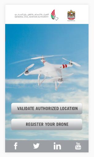 UAE Drone Fly Zone Map