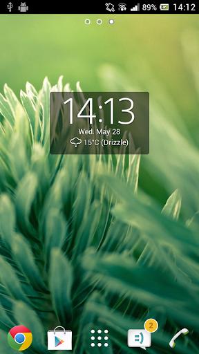 Digital Clock Widget Xperia