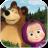 icon Masha and the Bear. Educational Games 6.0