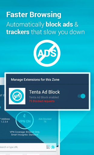 Download Tenta Private VPN Browser Beta for android 4 4 2