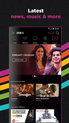 Download OZEE Free TV Shows Movie Music for android 4 2 2