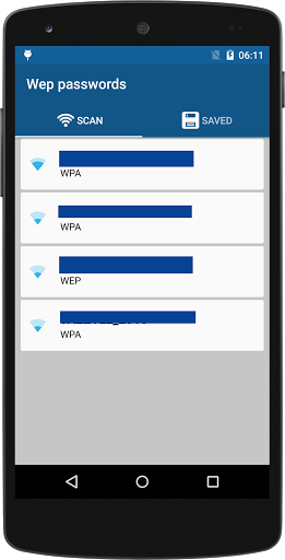 Wifi password WEP