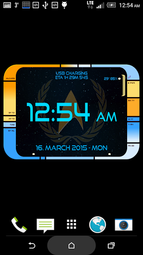 Free download Starfleet LCARS Clock APK for Android