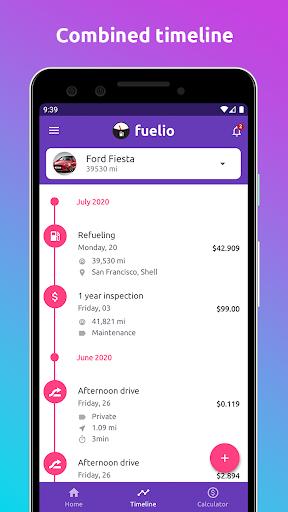 Fuelio: Gas log & costs