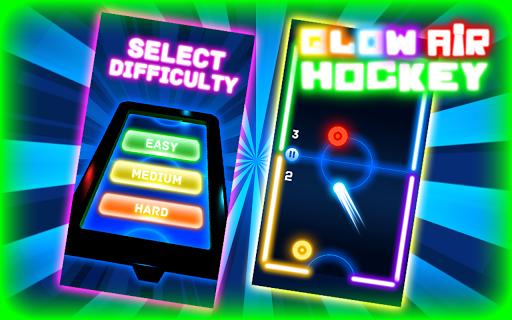 Glow Air Hockey HD