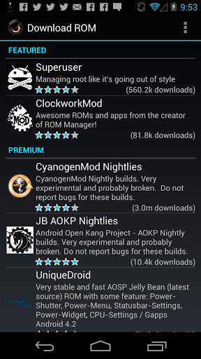Download ROM Manager for android 4 2 2