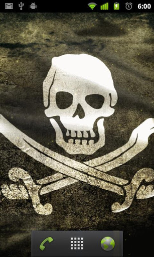 pirate flag live wallpaper