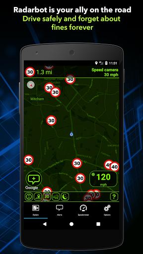 Download Radarbot Free: Speed Camera Detector & Speedometer