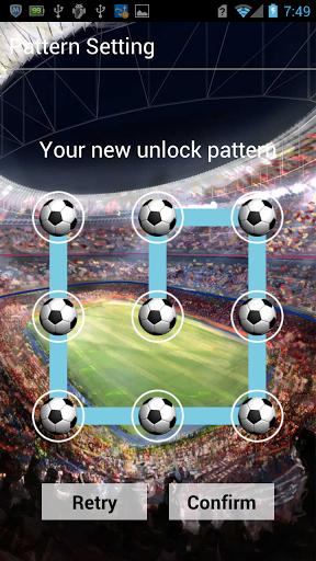 Football Pattern Live Lock-LWP