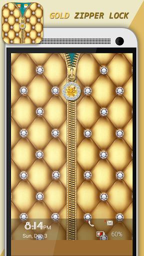 Gold Zipper Lock
