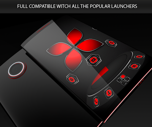 Soft Touch Red theme for Next Launcher