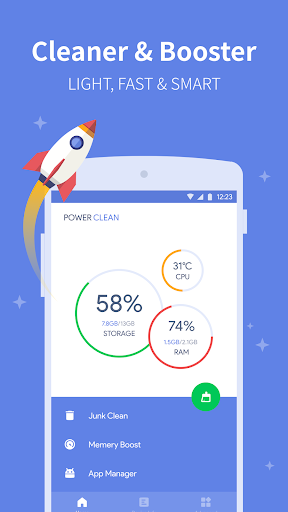 Power Clean -Phone Cleaner & Speed Booster Utility
