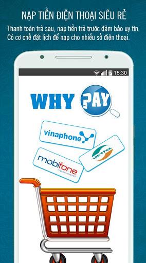 WhyPay: Quản lý cước & Nạp thẻ