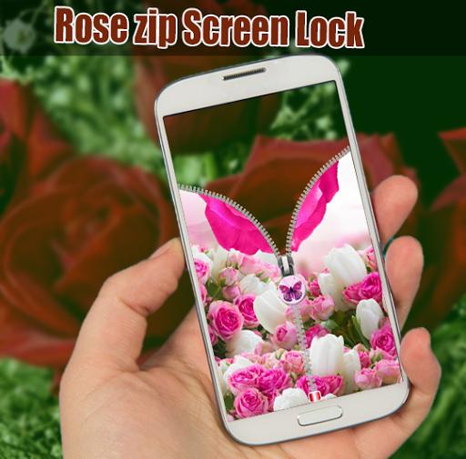 Rose zip Screen Lock