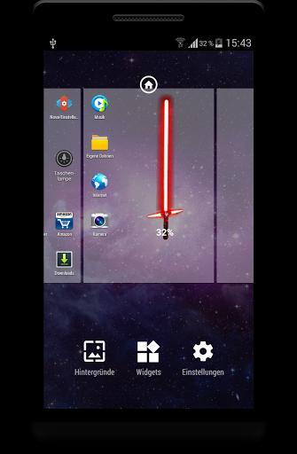 NEW Lightsaber Battery Widget