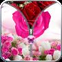 icon Rose Zip Screen Lock
