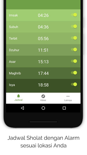 Jadwal sholat & kompas kiblat for android apk download.
